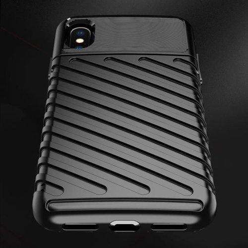 Thunder Case elastyczne pancerne etui pokrowiec iPhone XS / iPhone X czarny