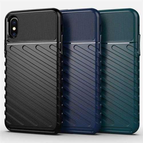 Thunder Case elastyczne pancerne etui pokrowiec iPhone XS / iPhone X niebieski