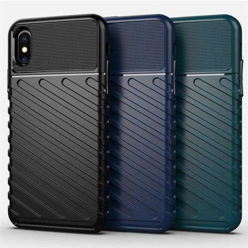 Thunder Case elastyczne pancerne etui pokrowiec iPhone XS / iPhone X zielony