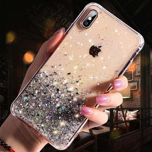 Wozinsky Star Glitter błyszczące etui pokrowiec z brokatem iPhone XS / iPhone X przezroczysty