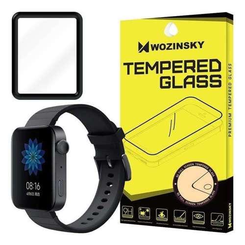 Wozinsky super wytrzymała folia Full Glue na cały ekran z ramką Case Friendly Xiaomi Watch czarny