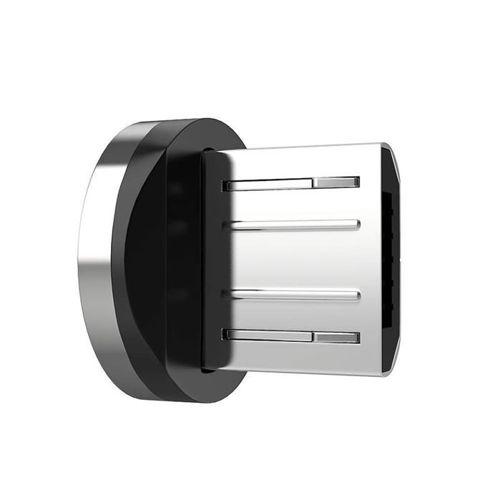 Wtyczka końcówka do kabla magnetycznego micro USB srebrny