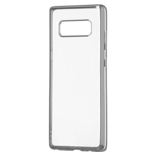 Żelowy pokrowiec etui Metalic Slim Huawei Honor 9 Lite srebrny