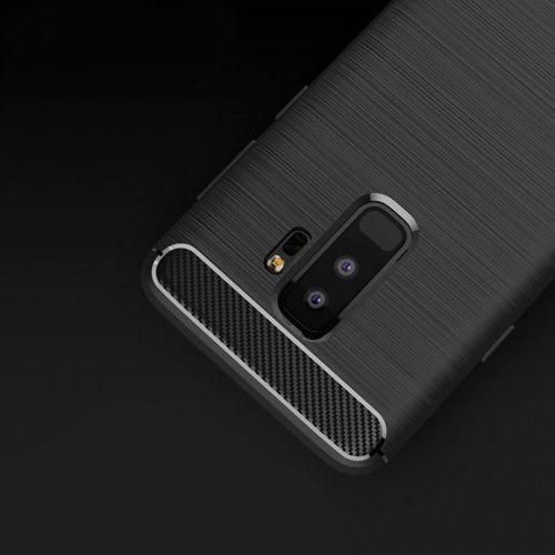 iPaky Slim Carbon elastyczne etui pokrowiec Samsung Galaxy S9 Plus G965 czarny