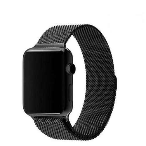 opaska pasek bransoleta MILANESEBAND Apple Watch 1/2/3/4/5/6/SE 38/40mm czarna