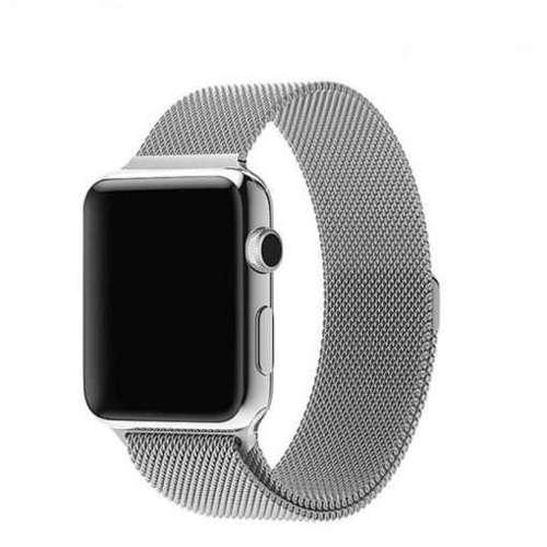 opaska pasek bransoleta MILANESEBAND Apple Watch 1/2/3/4/5/6/SE 38/40mm srebrna