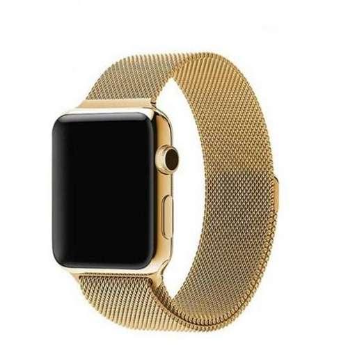 opaska pasek bransoleta MILANESEBAND Apple Watch 1/2/3/4/5/6/SE 42/44mm złoty