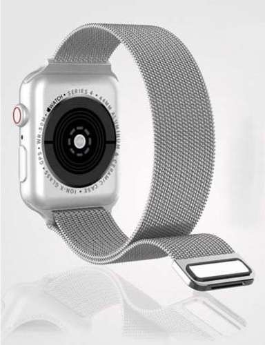 opaska pasek bransoleta MILANESEBAND Apple Watch 4/5/6/SE 44mm CHAMPAGNE GOLD +szkło 5D