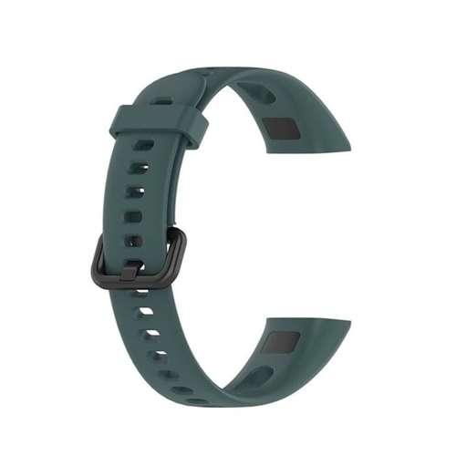 opaska pasek bransoleta SMOOTHBAND Huawei BAND 4 zielona +szkło 5D